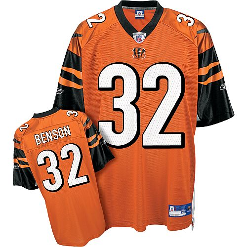 Reebok Cincinnati Bengals Cedric Benson 32 Orange Authentic Jerseys Sale