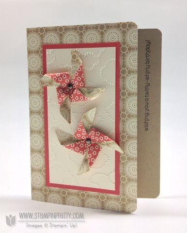 Stampin up stampinup pretty order pinwheel die birthday card ideas spring catalogs