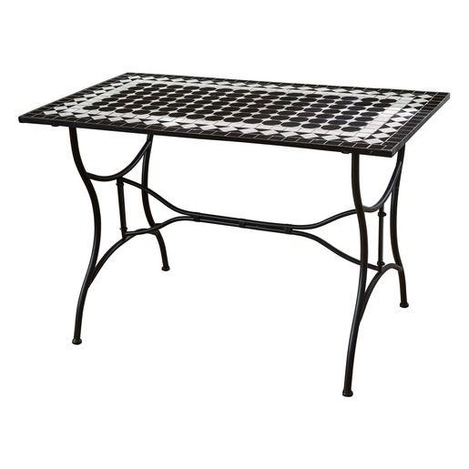 Table Fes En Acier Decor Mosaique La Foir Fouille En 2020 Mobilier Jardin Deco Exterieure Decoration