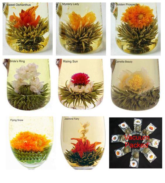 16 Blooming Tea BallsFlowering Green Tea Art by Mothersbeach