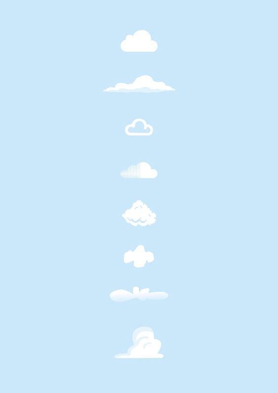 Loving this print series from Yoni Alter. Can you name all 8 'Famous Clouds'?