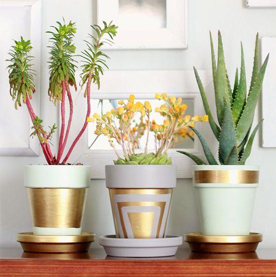 10 maneiras de personalizar um vaso de cerâmica: