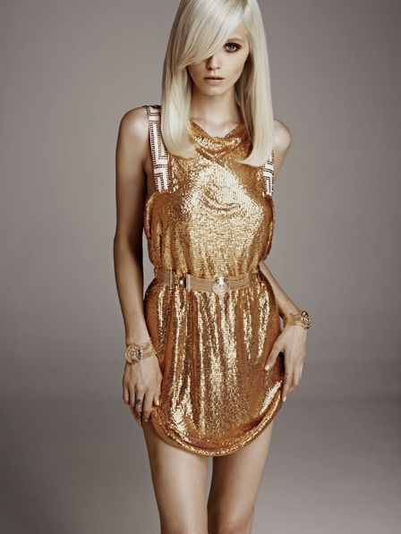 This chainmail dress is on the more expensive end of the range at $249 (prices start at $29.95 and go up to $399) and seems to have been inspired by the Versace dress Kate Hudson wore to the American Music Awards in 2009. New Year's Eve, I see you.