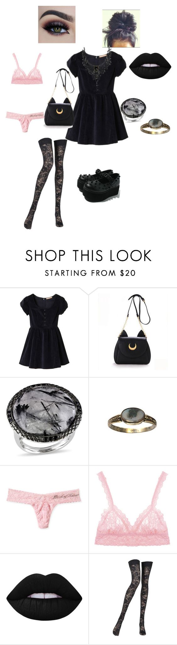 """""""Untitled #23"""" by deadlyangel ❤ liked on Polyvore featuring Ice, Hanky Panky, Lime Crime and Pierre Mantoux"""