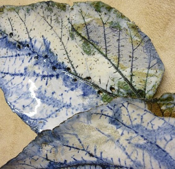 Leaves. Ceramic