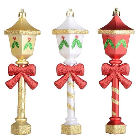 Lamppost Christmas Ornament from Martha Stewart Living at The Home Depot (Set of 6)