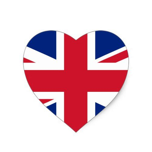 Uk Flag Sticker Heart Shaped Option Zazzle Com In 2020 Uk Flag Heart Stickers Union Jack Tattoo