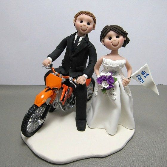 Wedding cake toppers motorbike cake order cake wedding motocross