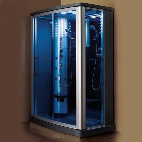 Mesa 608p Steam Shower 63 X 63 X 85 Blue Glass Steam Shower