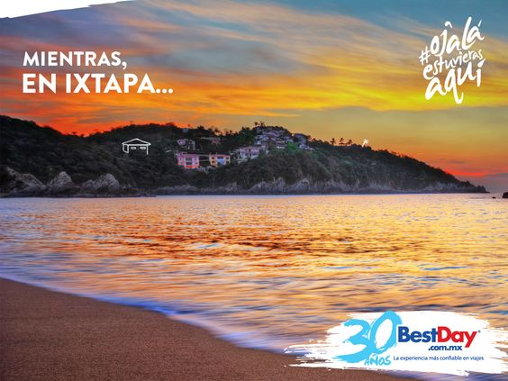 ¿Soñaste otra vez con esa playa solitaria? #OjalaEstuvierasAqui #Ixtapa #Zihuatanejo #BestDay