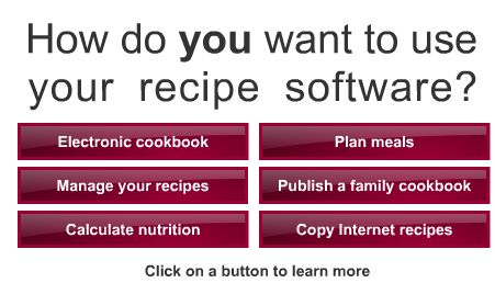 I have nothing to gain by posting this. But since so many of my friends are into food like I am, I thought this might be useful.     I use a recipe collection software called The Living Cookbook. The website doesn't do it justice. The software is amazing. It allows me to copy and paste all my favorite recipes into one place, so I don't have to have so many bookmarks. Love it!