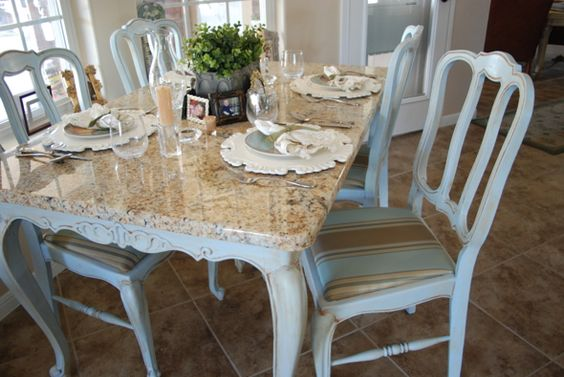 Granite Top Kitchen Table Set: Paint, Colors And Kitchen Tables On Pinterest