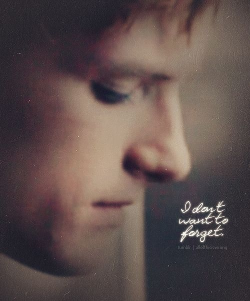 Peeta: So, what happens now? Katniss: I guess we go home and try to forget. Peeta: I don't want to forget.