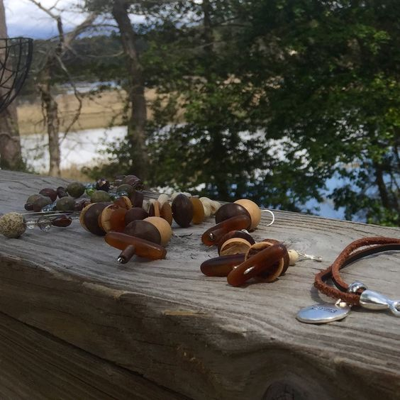 New sculptural pieces made out of lightweight wooden beads.