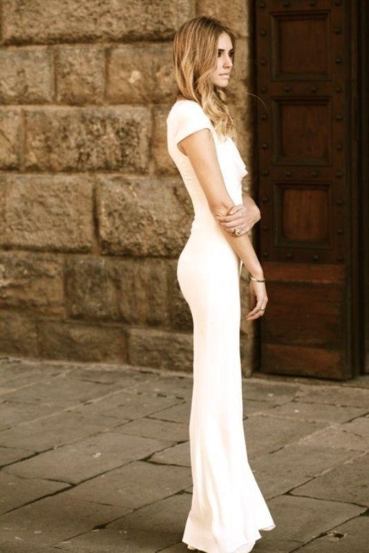 slim wedding dress