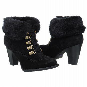 Indigo by Clark West Hill Boots (Black Suede) - Women's Boots - 7.5 M