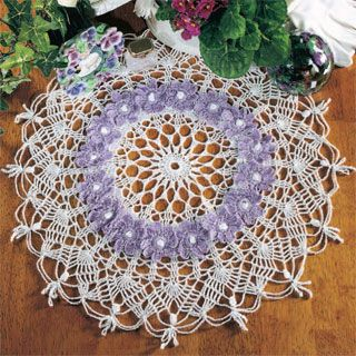 "March, part of Crochet World's FREE Doily of the Month. Get the download here: http://www.crochet-world.com/doily.php?id=1 ""Like"" the Crochet World Facebook page so you don't miss a single monthly installment: https://www.facebook.com/CrochetWorldMag"