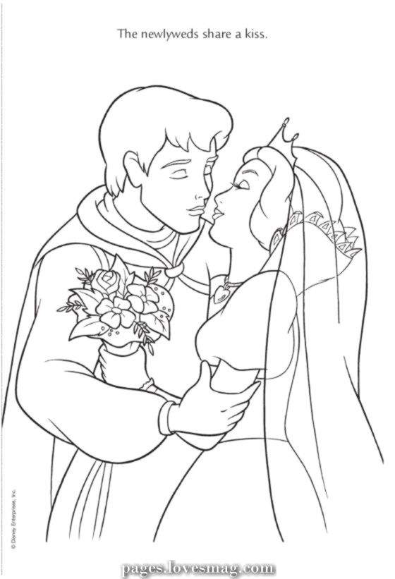 Unique And Creative Wedding Ceremony Of Snow White In 2020 Disney Princess Coloring Pages Wedding Coloring Pages Snow White Coloring Pages