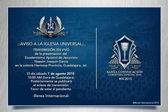 """Aviso a la Iglesia universal"" #Lldm #Santa_Cena2015"