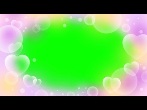 Cute Heart Overlay Green Screen Ll Creative Commons Ll No Copyright Youtube Greenscreen Heart Overlay Green Screen Backgrounds