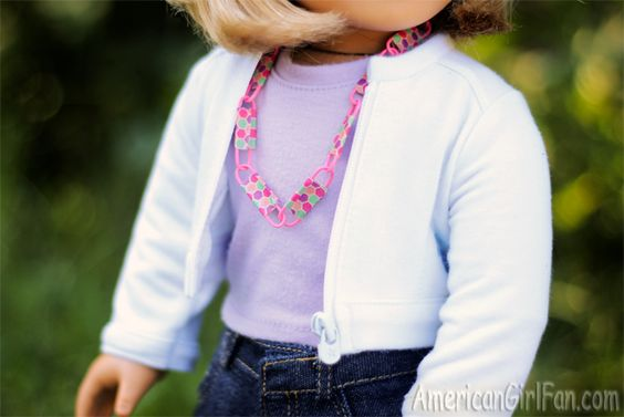 American Girl Doll Craft Paper Clip Necklace