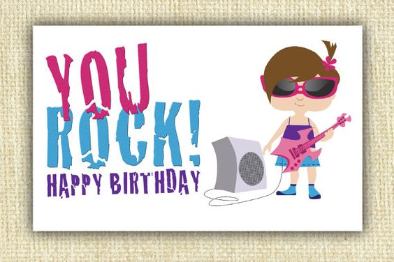 Girl birthday cards to print
