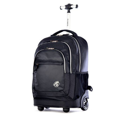 Olympia GenX 19 Inch Rolling Backpack Black One Size * Visit the image link more details.