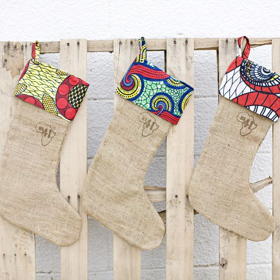 We can't think of a sweeter way to deck your halls this year than these adorable burlap stockings, handmade in Rwanda, that give back! One stocking provides 116 meals to a secondary student, while paying a sustainable wage to the precious woman who crafted it.     There are 3 different stocking s...