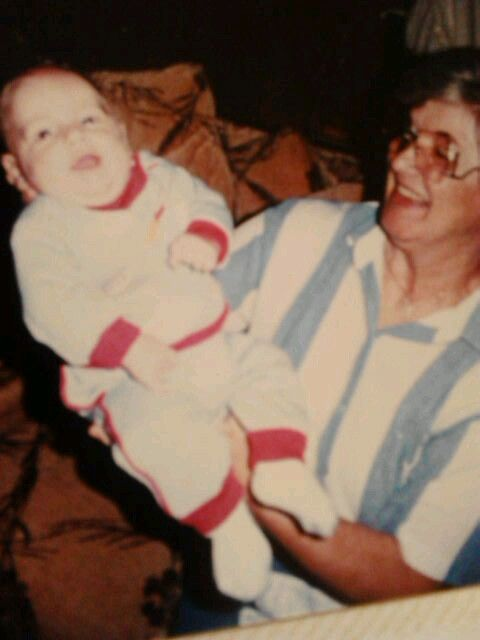 My MoM Bettie with my son Chris...She was a wonderful Grammie for all you did..out of Love... .