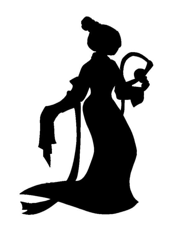Mulan silhouette | Cinderella - 18.2KB