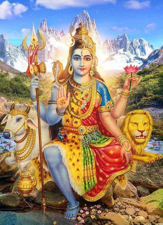 Shiva Shakti.The United Form of The Supreme Lord & Supreme Mother Goddess.Proofing the equality of Shiva & Shakti