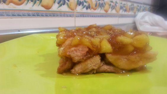 La Cocina de Masito: FILETES DE CERDO BAJO CONFIT DE MANZANA
