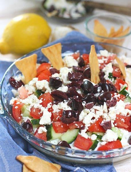 Easy Layered Greek Dip