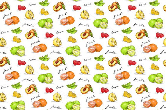 pattern fruit by Netkoff on Creative Market