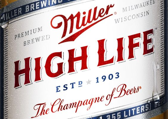 Miller High Life // Red White & Blue // Designed by Landor San Francisco // Country: United States