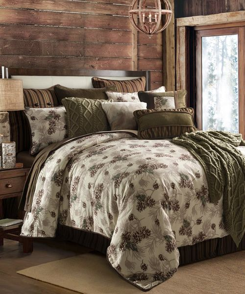 Pine Cone Bedding Comforter Sets, Earth Tone Bedding Collections