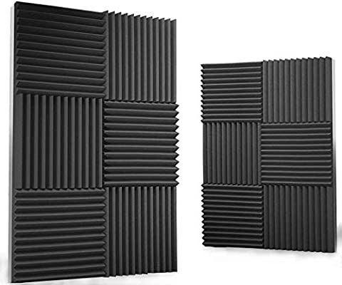 Amazon Com Siless 12 Pack Acoustic Panels 1 X 12 X 12 Acoustic Foam Studio Foam Wedges High Density Panels In 2020 Studio Foam Acoustic Panels Sound Panel