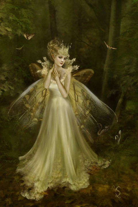Glow...#fairy #faerie #fantasy #art #gold: