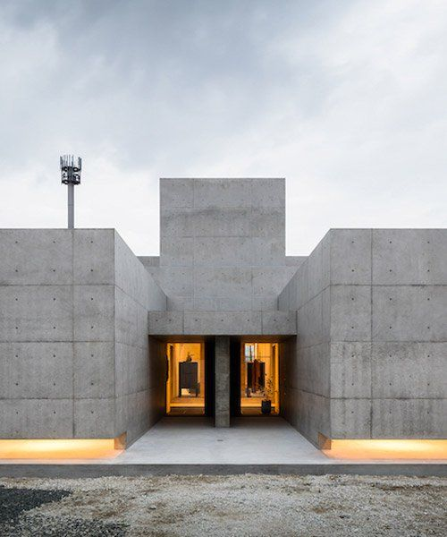 Form Builds Thick Concrete Volumes To Create The Tranquil House In Japan Concrete House Architecture Brutalist
