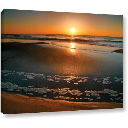ArtWall Steven Ainsworth Morning Has Broken Gallery-wrapped Canvas, Size: 14 x 18, Orange