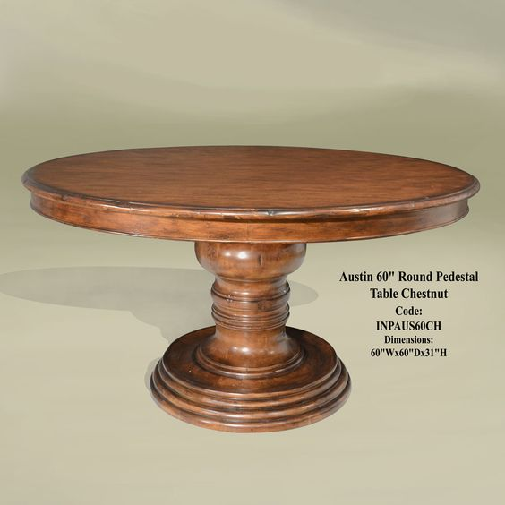 Gallery For > Round Pedestal Dining Table 60 Inch