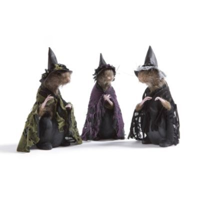 Set of Three Rat Witches