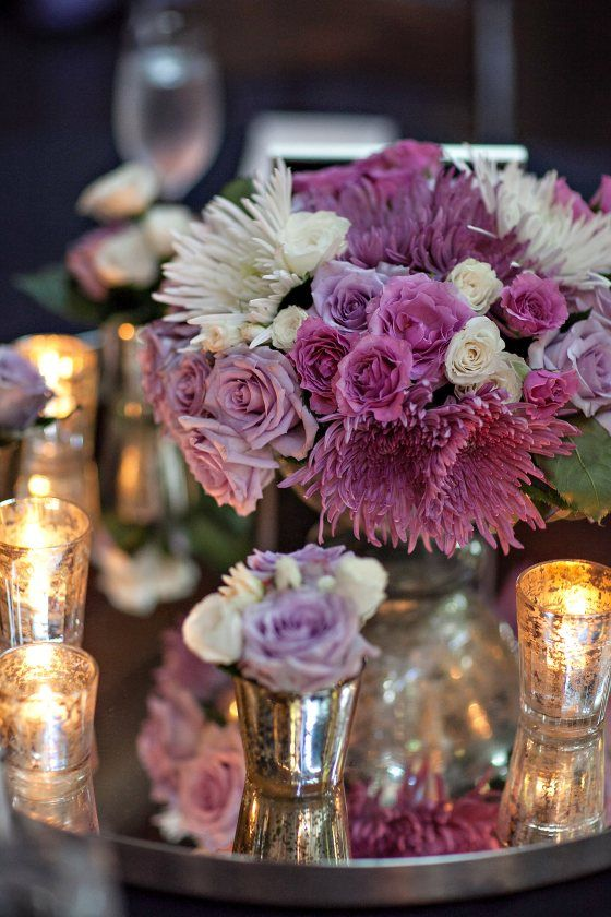 Centerpiece ideas from bold american events mirrored tray