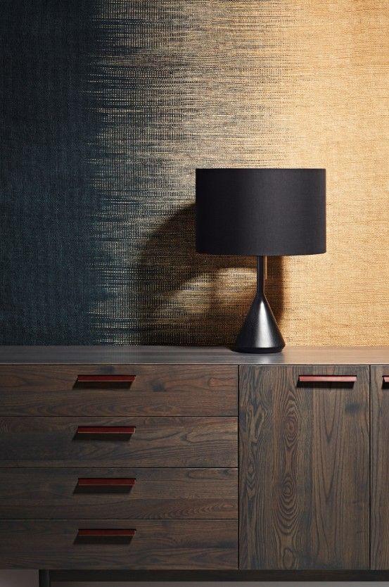 Don't be dim. Flask Table Lamp, Shale 2 Door / 4 Drawer Dresser and Delta Rug.  #modernlamp #moderndresser #modernstorage:
