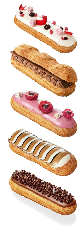 L'Eclair de Génie http://www.lesconfettis.com/finie-la-mode-des-macarons-ou-cupcakes-place-aux-eclairs-ave-leclair-de-genie/