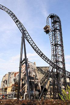 Saw Roller Coaster at Thorpe Park, Surrey, England - another Best United Kingdom park for Adrenaline Junkies.