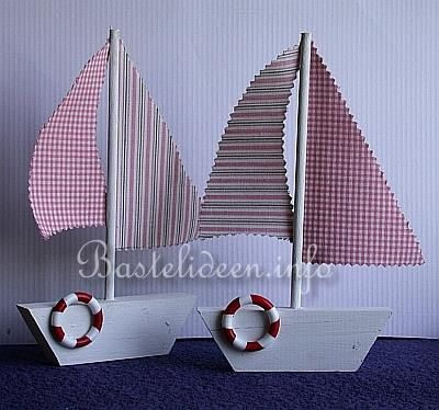Basteln mit Holz - Laubsägearbeit - Segelboot ...