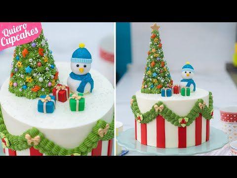 Decoración De Tarta Navideña Especial Navidad Quiero Cupcakes Youtube Cake Creative Cakes Birthday Cake