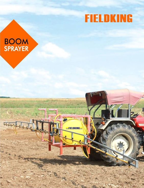 Fieldking Tractor Mounted Boom Sprayer For Multipurpose Cropprotection Easy To Use Control Panel With Non Dripping Tee B Sprayers Crop Protection Tractors