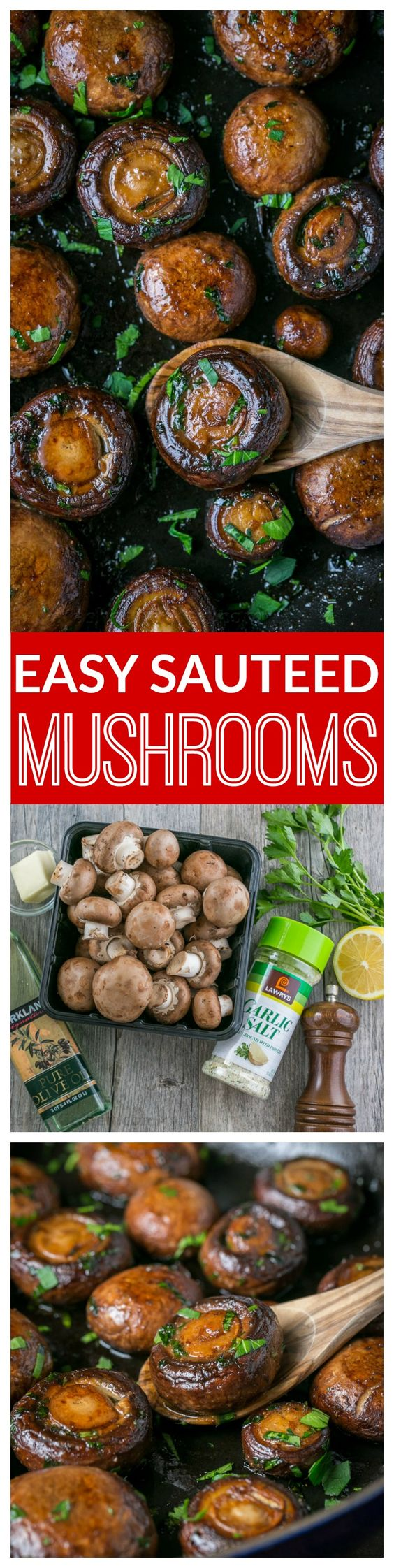 These are so easy and tasty! Serve sauteed mushrooms as a side dish, appetizer, over steak, on a burger (yum!), in gravy - so versatile!
